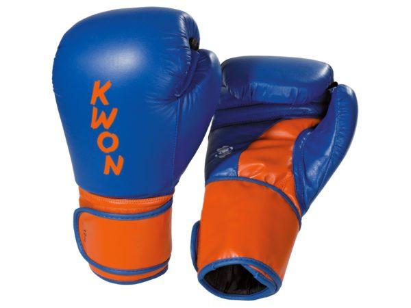 Kwon Boxhandschuhe Super Champ Blau-Orange