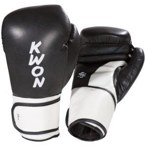 Kwon Boxhandschuhe Super Champ Schwarz-Weiß