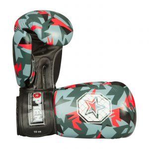 Kampfsport Ausrüstung TOP TEN Boxhandschuhe Jungle Rot