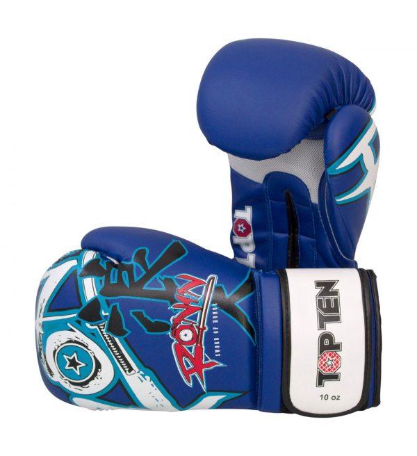 Kampfsport Ausrüstung TOP TEN Boxhandschuhe Ronin Blau