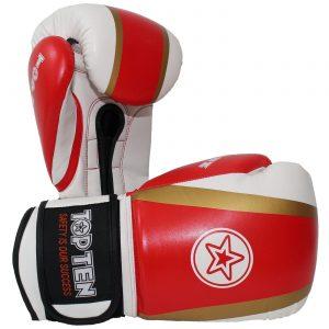 Kampfsport Ausrüstung TOP TEN Boxhandschuhe Star & Stripes Rot-Gold