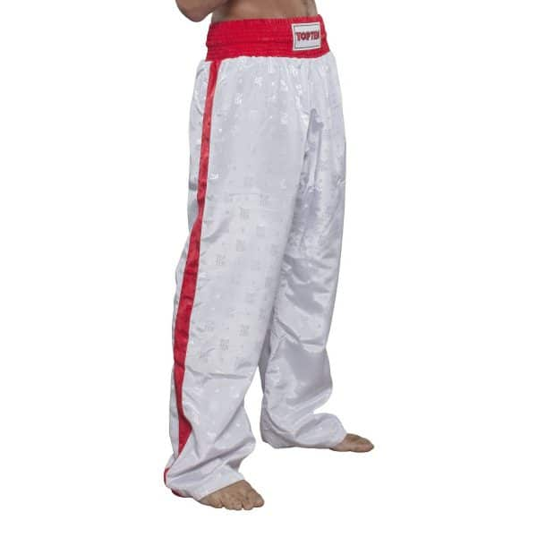 Top Ten Kickboxhose Classic Weiß Rot