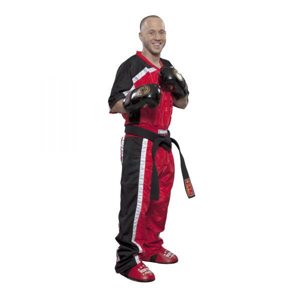 Top Ten Kickboxhose Mesh Rot-Schwarz