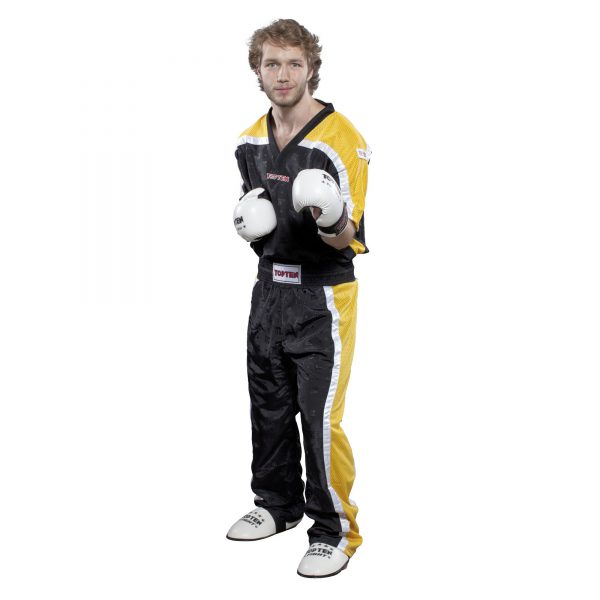Top Ten Kickboxhose Mesh Schwarz-Gelb