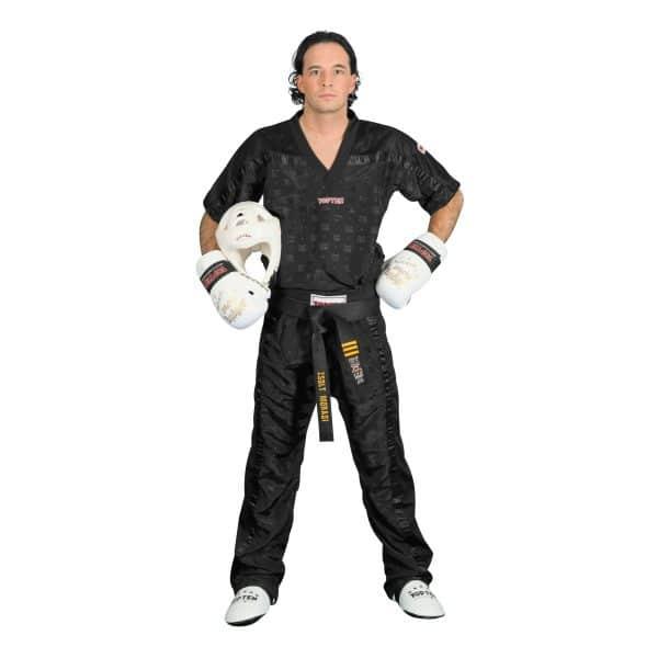 Top Ten Kickboxhose Mesh Schwarz