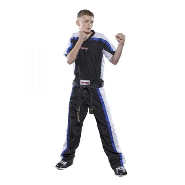 Top Ten Kickboxhose Mesh Schwarz-Weiß