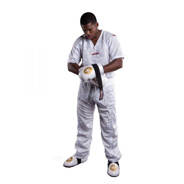 Top Ten Kickboxhose Mesh Weiß