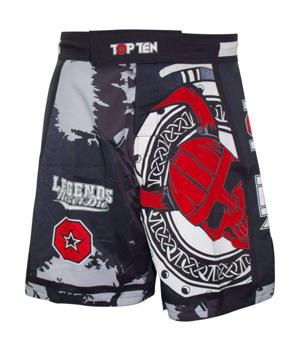 Top Ten MMA Shorts Vikings Schwarz-Rot