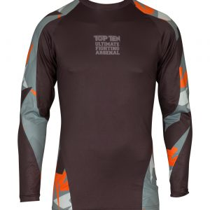 Top Ten Rashguard Jungle Langarm Schwarz-Orange