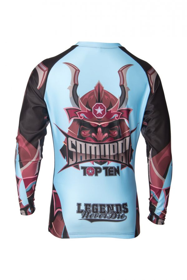 Top Ten Rashguard Samurai Langarm Blau-Schwarz