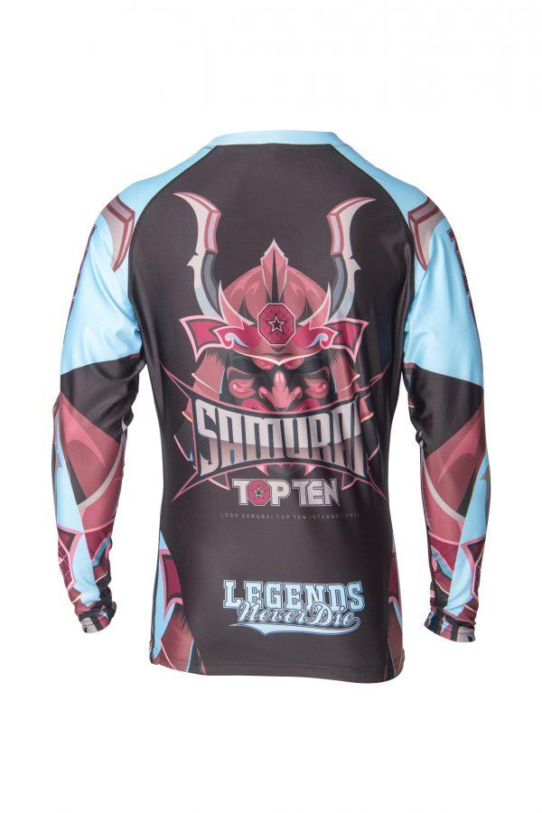 Top Ten Rashguard Samurai Langarm Schwarz-Blau