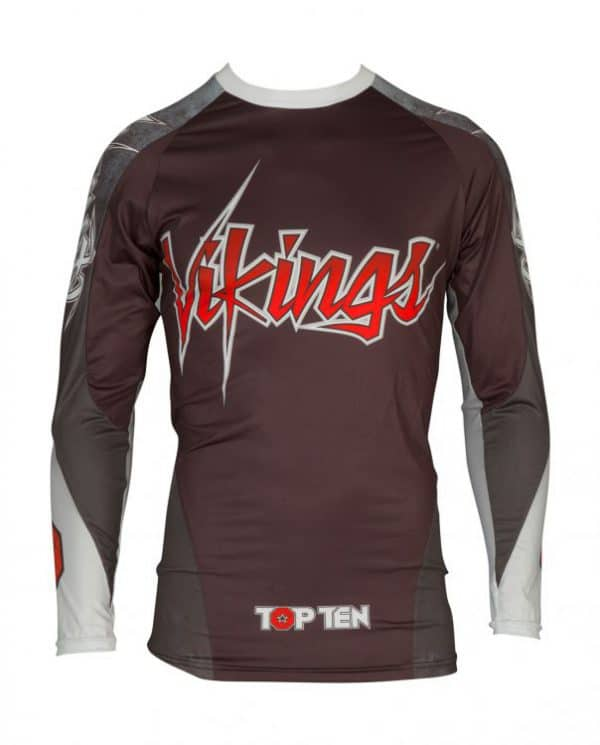 Top Ten Rashguard Vikings Langarm Schwarz