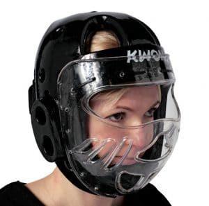 Kwon Kopfschützer KSL mit Visier CE Schwarz