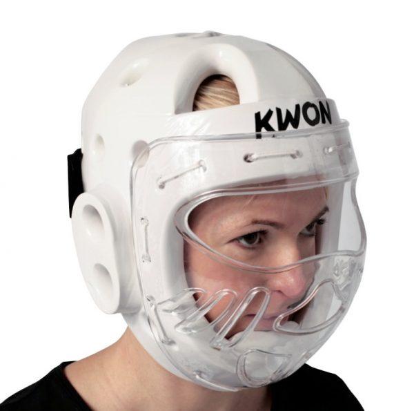 Kwon Kopfschützer KSL mit Visier CE Weiß