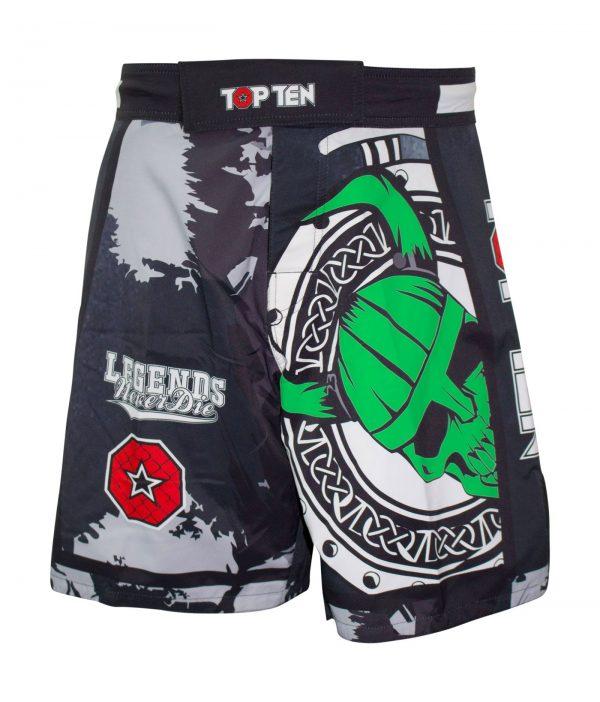 Top Ten MMA Shorts Vikings Schwarz-Grün