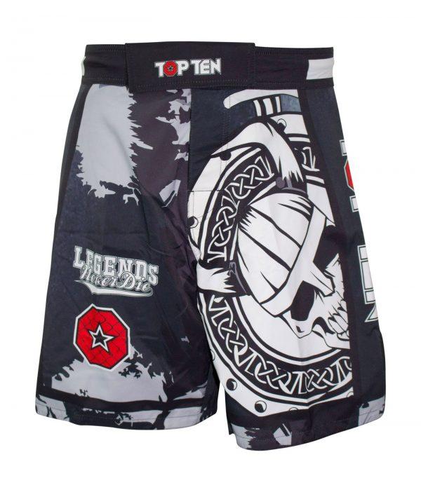 Top Ten MMA Shorts Vikings Schwarz-Weiß