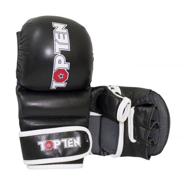 Top Ten MMA Striking Gloves Thumb Guard Schwarz-Weiß