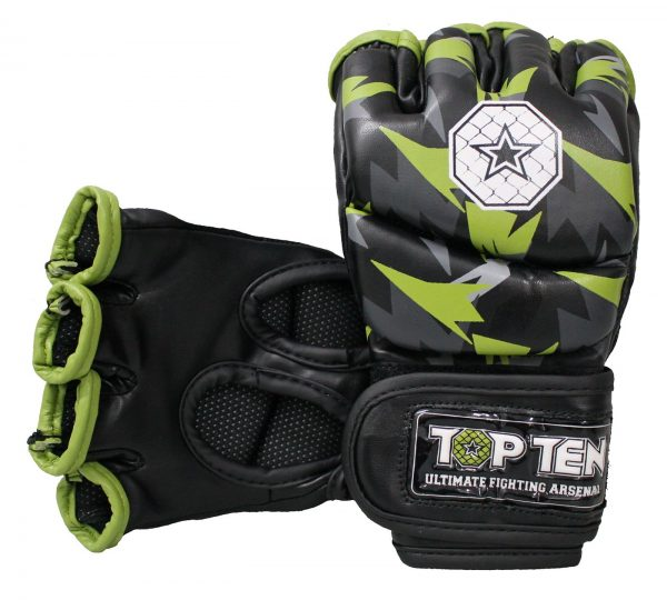 Top Ten MMA Ultimate Fight Gloves Jungle Schwarz-Grün