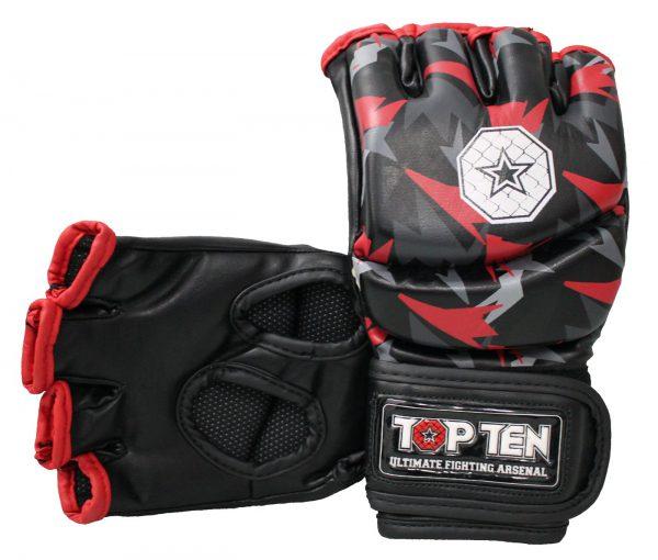 Top Ten MMA Ultimate Fight Gloves Jungle Schwarz-Rot
