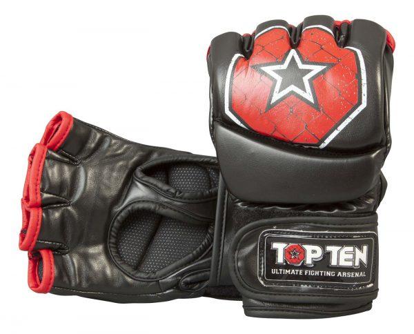 Top Ten MMA Ultimate Fight Gloves Octagon Schwarz-Rot