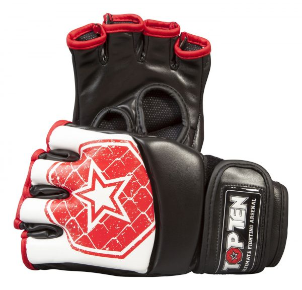 Top Ten MMA Ultimate Fight Gloves Octagon Weiß-Rot