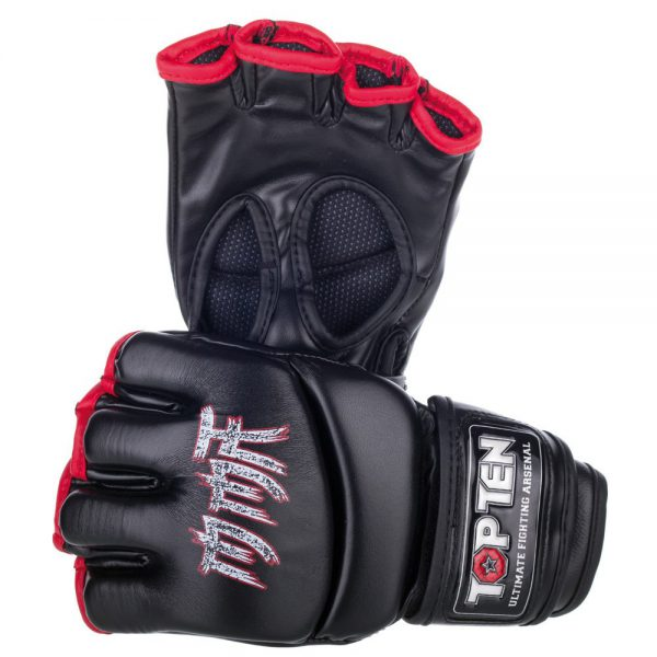 Top Ten MMA Ultimate Fight Gloves Symbol Schwarz Rot