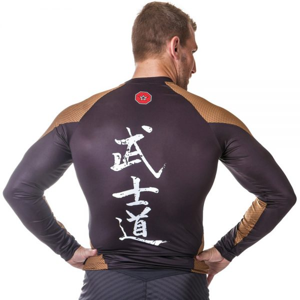 Top Ten Rashguard Budo Langarm Gold