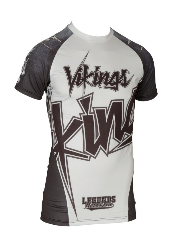 Top Ten Rashguard Vikings Kurzarm Weiß