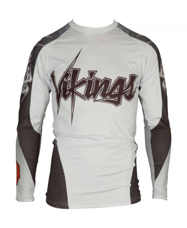 Top Ten Rashguard Vikings Langarm Weiß