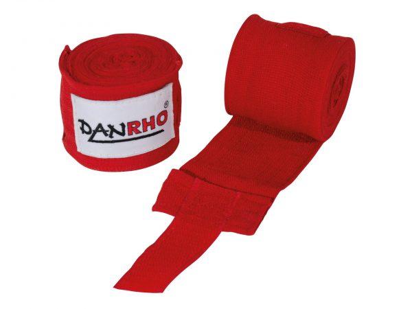 Danrho Boxbandagen 2,5m elastisch Rot