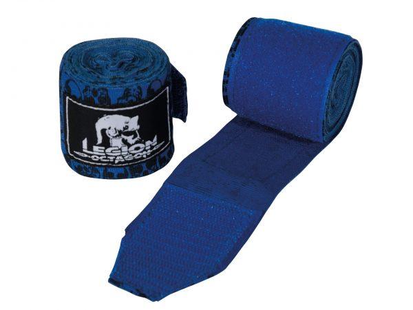Legion Octagon Boxbandagen Skull Blau