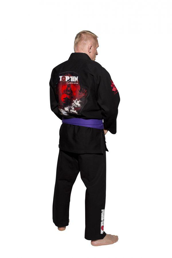 Top Ten Brazilian Jiu Jitsu Anzug Guerriero Schwarz