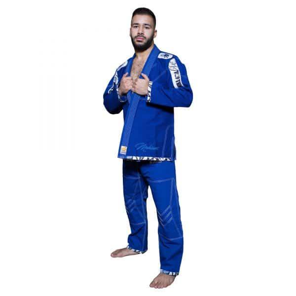 Top Ten Brazilian Jiu Jitsu BJJ Wettkampf GI Mohicans Blau