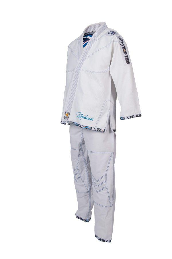 Top Ten Brazilian Jiu Jitsu BJJ Wettkampf GI Mohicans Weiß