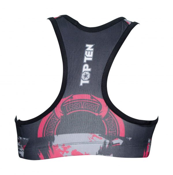Top Ten Sports Bra Samurai Pink