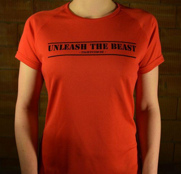 Unleash the Beast Funktionsshirt Damen Rot