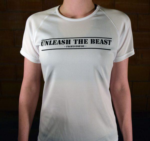 Unleash the Beast Funktionsshirt Damen Weiß