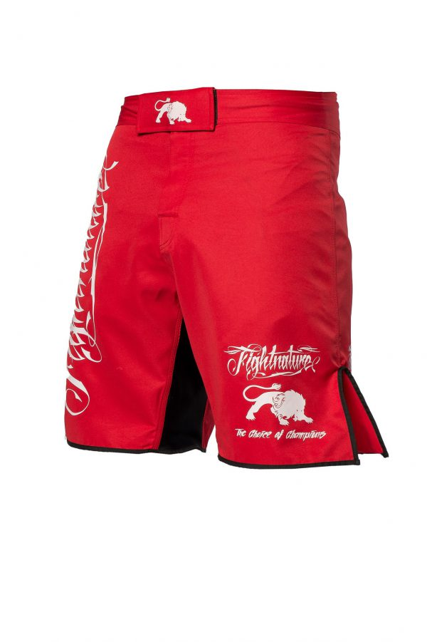 Fightnature MMA Shorts Rot