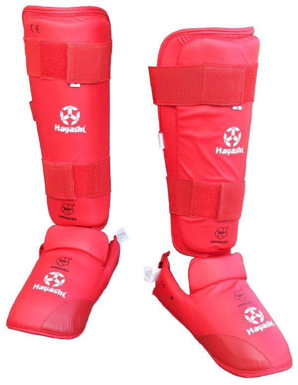 Hayashi Karate Schienbein- und Spannschutz Approved by WKF rot