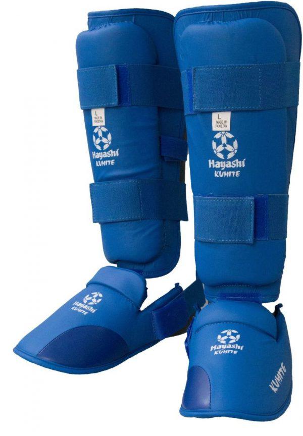 Hayashi Karate Schienbein- und Spannschutz blau
