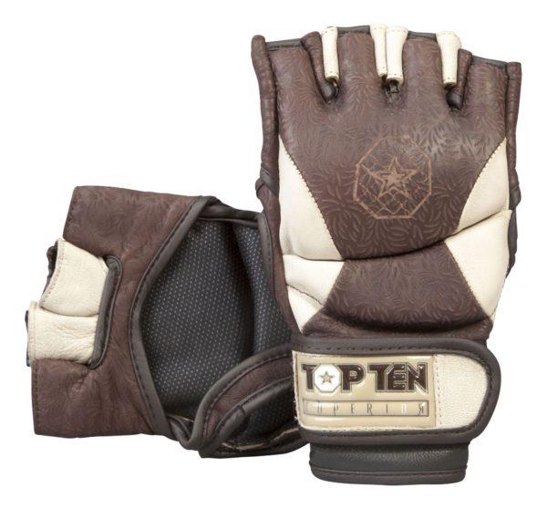 Top Ten MMA Ultimate Fight Gloves Superior braun-hellbraun
