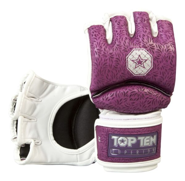 Top Ten MMA Ultimate Fight Gloves Superior lila-weiß