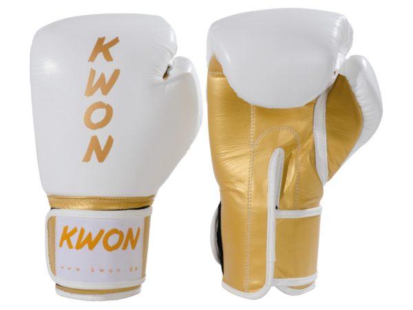 KWON Kickboxhandschuhe KO Champ Weiß-Gold