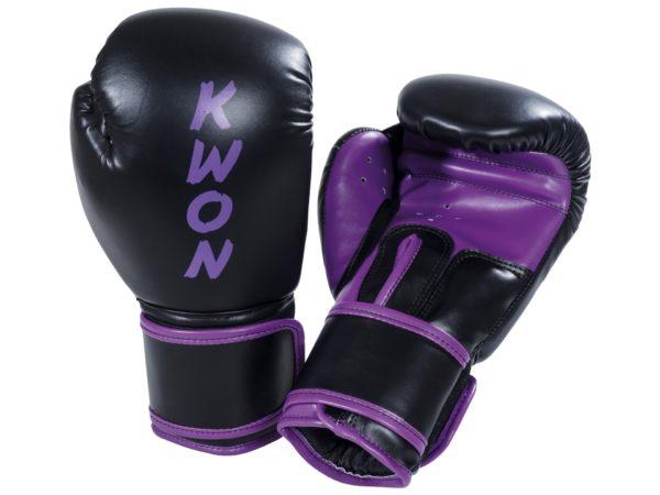 Kwon Boxhandschuhe Training Schwarz-Lila