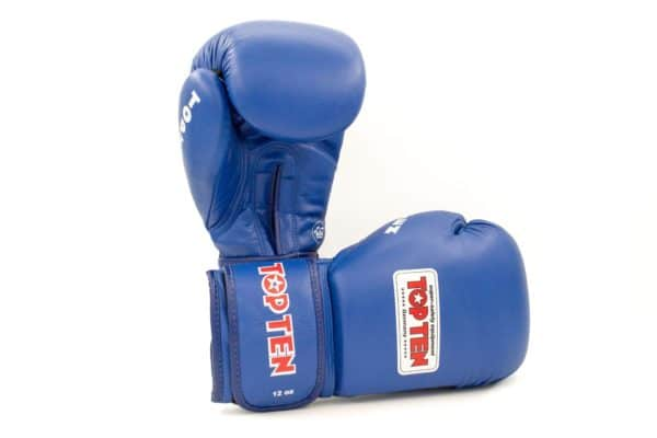 TOP TEN Boxhandschuhe AIBA Blau 12 Oz.