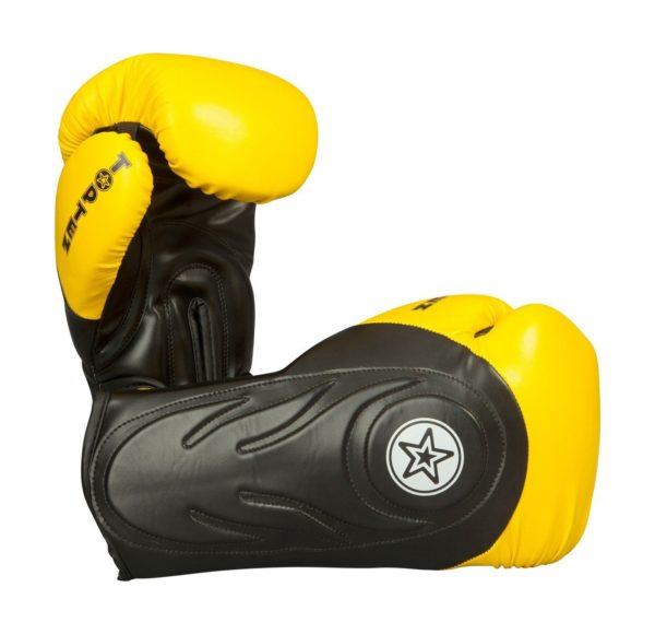 TOP TEN Boxhandschuhe Sparringhandschuhe Hero Schwarz-Gelb