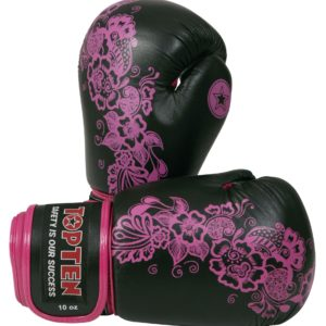 TOP TEN Boxhandschuhe Ultimate Woman Fight für Frauen Schwarz-Pink
