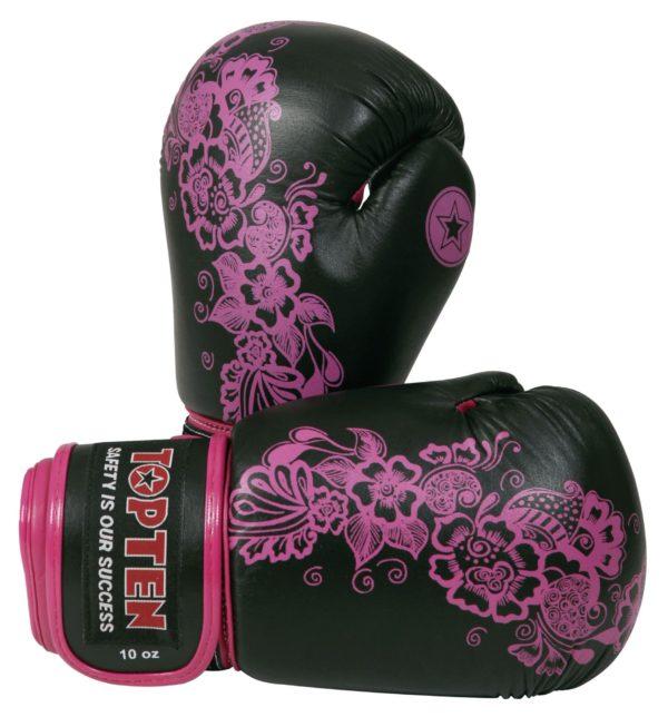 TOP TEN Boxhandschuhe Ultimate Woman Fight für Frauen Schwarz-Pink