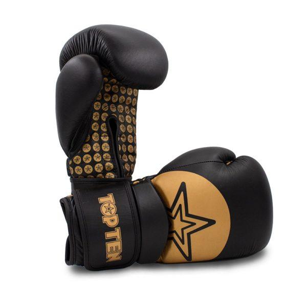 TOP TEN Boxhandschuhe Wrist Star Schwarz-Gold