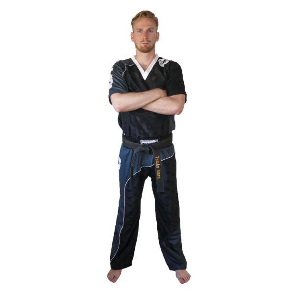 TOP TEN Kickbox Uniform Bow Schwarz-Grau